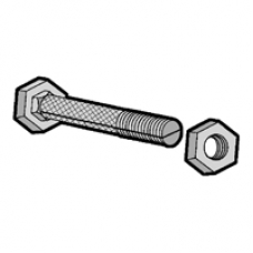 ANCHOR SLOTTED BOLT  / NUT