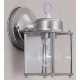EXT FIXTURE LANTERN STYLE BR NKL