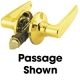 LOCK LEVER PASS  POL BRASS